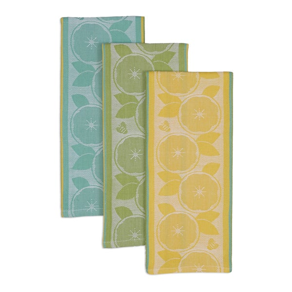 Lemon Jacquard Dishtowels (Set of 3)