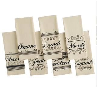 Bonne Jours Printed Dishtowel (Set of 7)