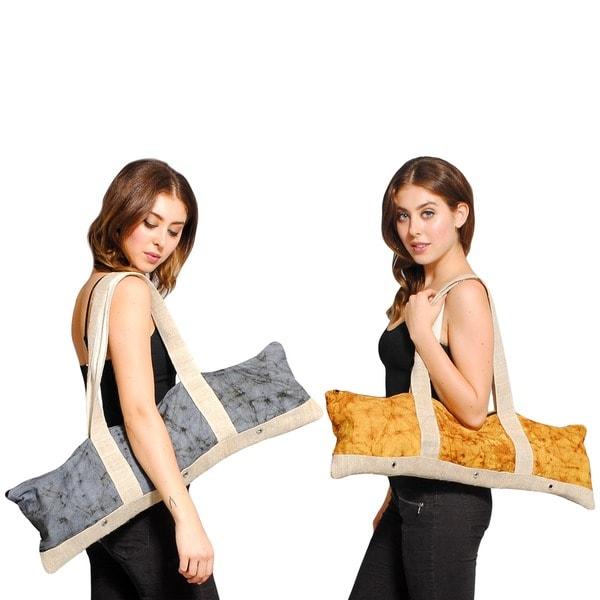 Hemp/ Cotton Mix Yoga Mat Bag (Nepal)