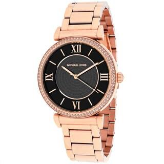 Michael Kors Women's MK3356 Catlin Round Rose-tone Bracelet Watch