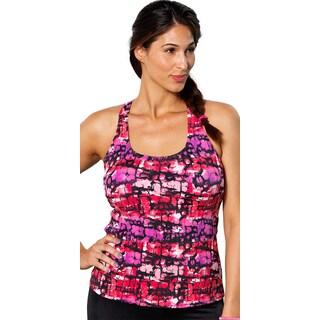 Aquabelle Melrose Plus Size Pink Racerback Tankini Top