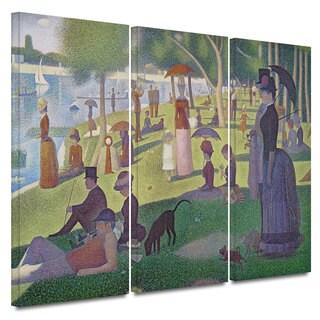 Georges Seurat 'La Grande Jatte' 3-piece Gallery-wrapped Canvas