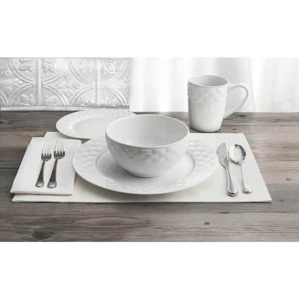 Picnic Weave 16-piece Dinner Set (Refurbished item) 14925347