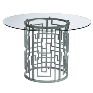 Greek Key Silver Dining Table