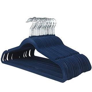 Ultra Thin No Slip Blue Velvet Suit Hanger (Set of 25)