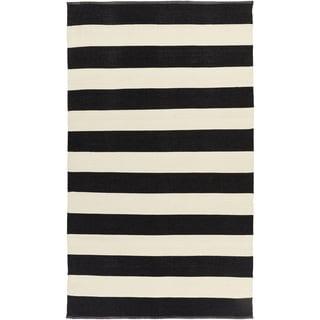 Hand-Woven Jonas Stripe PVC Rug (2' x 3')