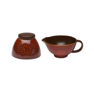 Red Vanilla Organic Brown 2-piece Covered Sugar Bowl and Creamer Set
