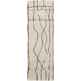 Hand-Knotted Ross Abstract Jute Rug (2'6 x 8')