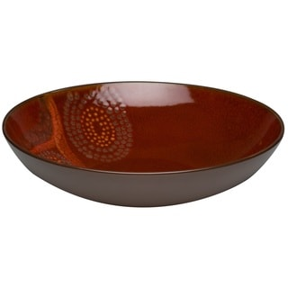 Red Vanilla Organic Brown Serving Bowl