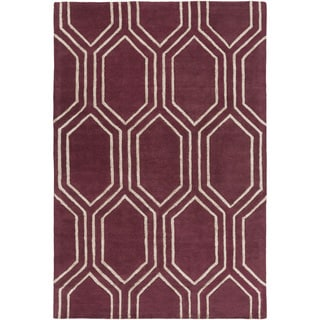 Hand-Tufted Herman Geometric Pattern Viscose Rug (8' x 10')
