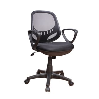 Christopher Knight Home Matte Black Mesh Adjustable Office Chair