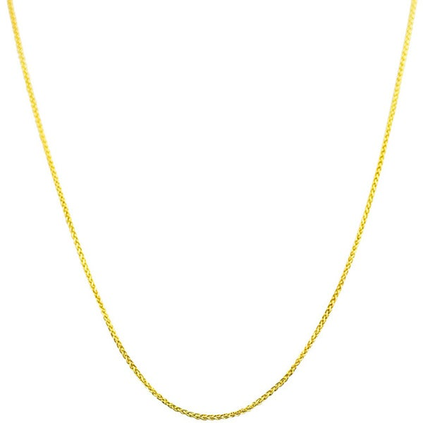 Fremada 14k Yellow Gold 16-inch Round Wheat Chain (As Is Item)