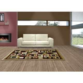 LYKE Home Audrey Cream Geometric Area Rug (8' x 11')