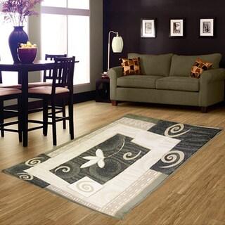 LYKE Home Isabela Green Area Rug (4' x 6')