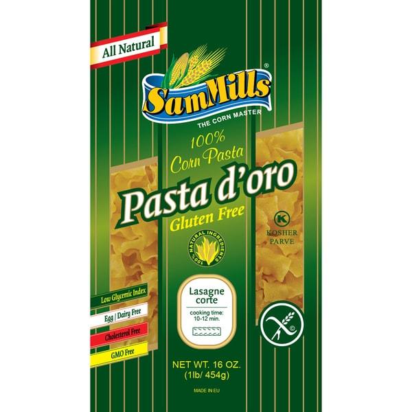 Sam Mills Gluten-free Mini Lasagna Corn Pasta (4 Pack)