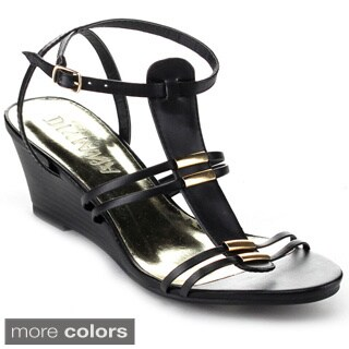 Diviana 'Nicki-20' Women's Criss-cross Ankle Strap Wedges