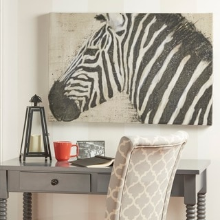 Zebra Wrapped Giclee Print Canvas Wall Art