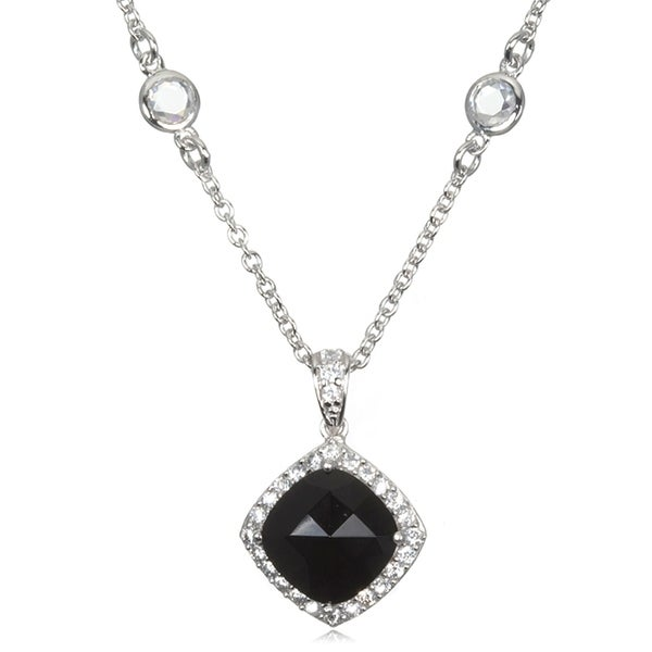 Cushion Rose-cut Onyx Necklace