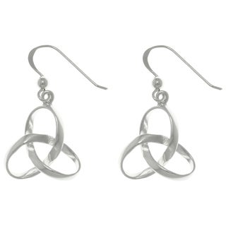 CGC Sterling Silver Celtic Trinity Knot Dangle Earrings