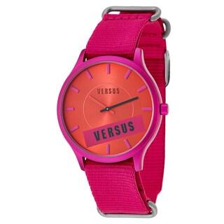 Versus Versace Women's 'Less' Pink Aluminum Quartz Watch