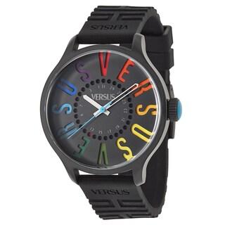 Versus Versace Women's 'City' Ion-plated Stainless Steel Black Quartz Watch