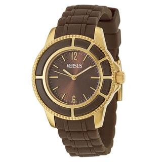 Versus Versace Women's 'Tokyo' Gold Ion-plated Stainless Steel Brown Quartz Watch