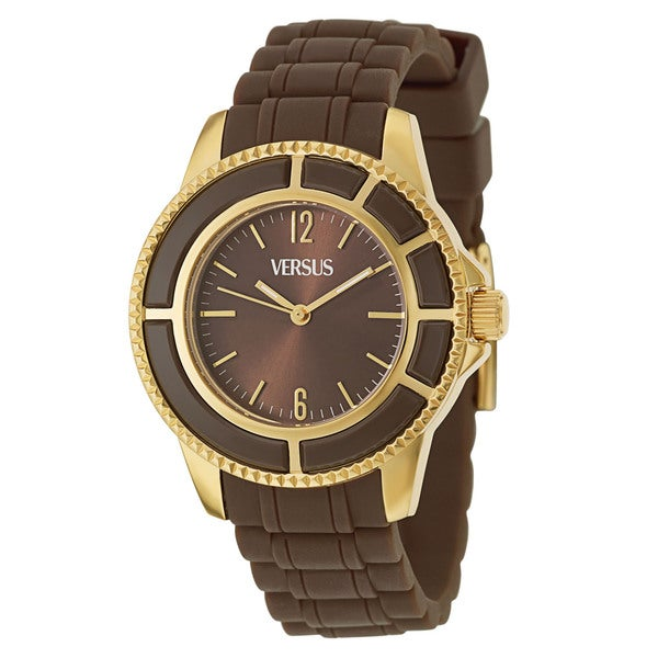 Versus Versace Women's 'Tokyo' Gold Ion-plated Stainless Steel Brown Quartz Watch