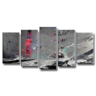 Ready2HangArt 'Inkd XVIII' 5-piece Canvas Art Set