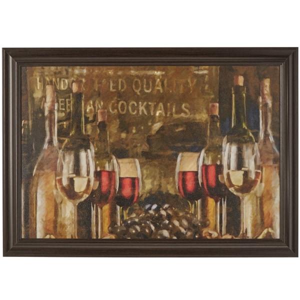 'Les Vins Maison' Framed Wall Art Print