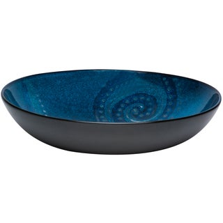 Red Vanilla Organic Blue Serving Bowl