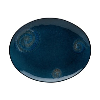 Red Vanilla Organic Blue Oval Platter