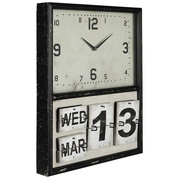 Cooper Classics Brickard Metal Clock