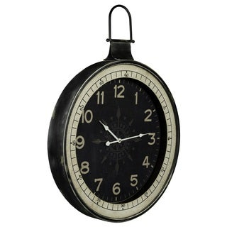 Cooper Classics Shinta Distressed Black Clock