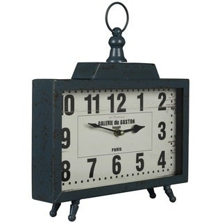 Cooper Classics Liam Distressed Teal Clock
