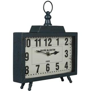 Cooper Classics Liam Distressed Teal Clock