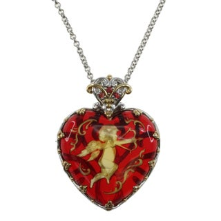 Michael Valitutti Sterling Silver Amber 'Shot to the Heart' Necklace