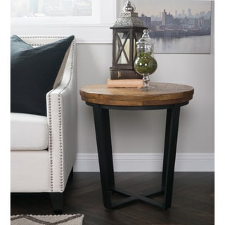 Kosas Kinda Reclaimed Wood Round End Table