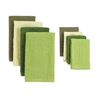 Natural Terry Bar Mop Dish Towels and Dish Cloths (set of 4)