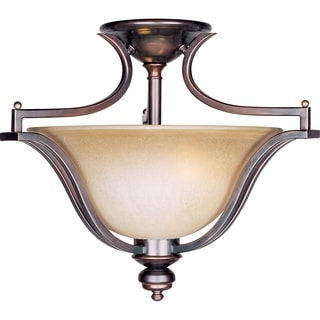 Madera Bronze 3-light Semi-flush Mount
