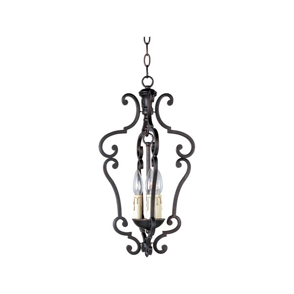 Richmond Steel 3-light Entry Foyer Pendant