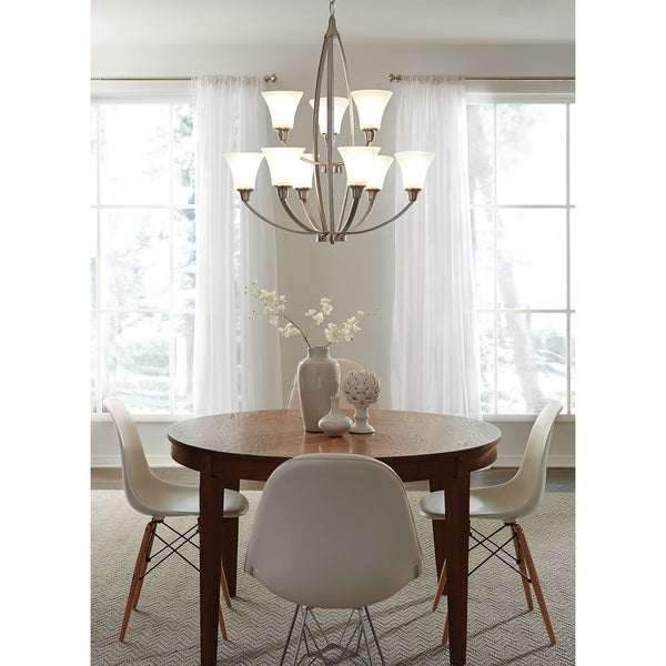 Metcalf 9-light Brushed Nickel Chandelier