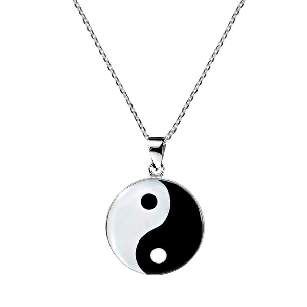 Yin Yang Balance of Life .925 Sterling Silver Necklace (Thailand)