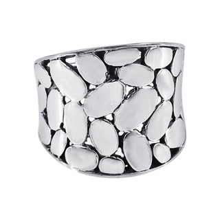 Variety Medium Oval Pattern .925 Silver Band Ring (Thailand)