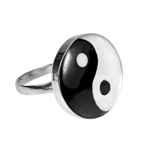Yin Yang Balance of Life .925 Sterling Silver Ring (Thailand)