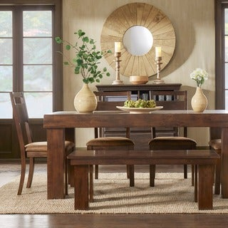 Rowan Rustic Burnished Oak 6-piece Dining Set