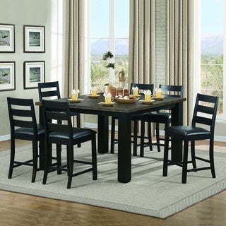 Donovan Brown Oak Counter Height 7-piece Extending Dining Set