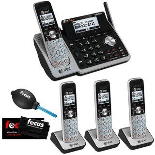 AT&T TL88102 Dect 6.0 1-Handset 2-Line Landline Telephone + 3 Additional Handsets