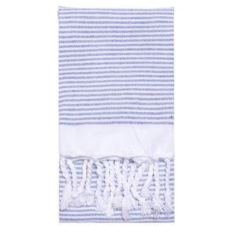 Turkish Cotton Lapiz Striped Fouta Hand Towel