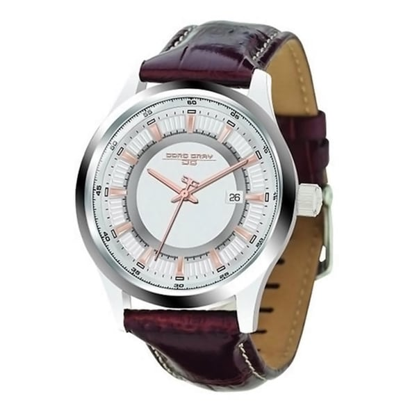 Jorg Gray Men's JG6800-12 Brown Leather Stainless Steel Case Watch