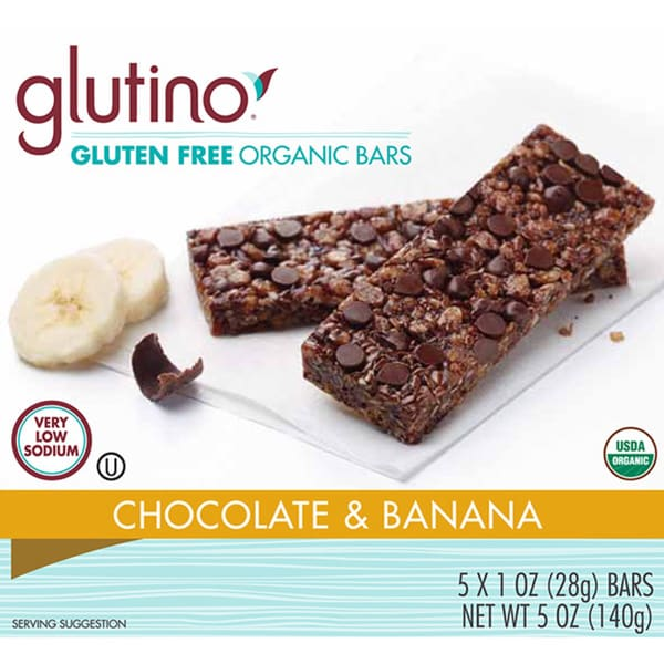 Glutino Gluten-free Chocolate and Banana Organic Bars (2 Pack)